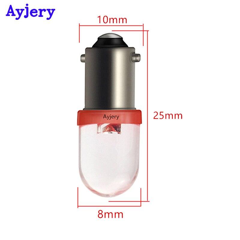 10Pcs 6 volt led bulb Pinball T10 W5W 2825 158 192 168 194 2SMD 5630 LED 6V 6.3V