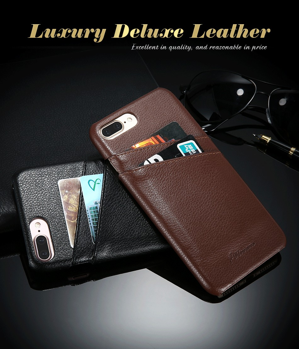 genuine leather card slot case for iPhone 6 6s Plus 7 7 Plus (1)