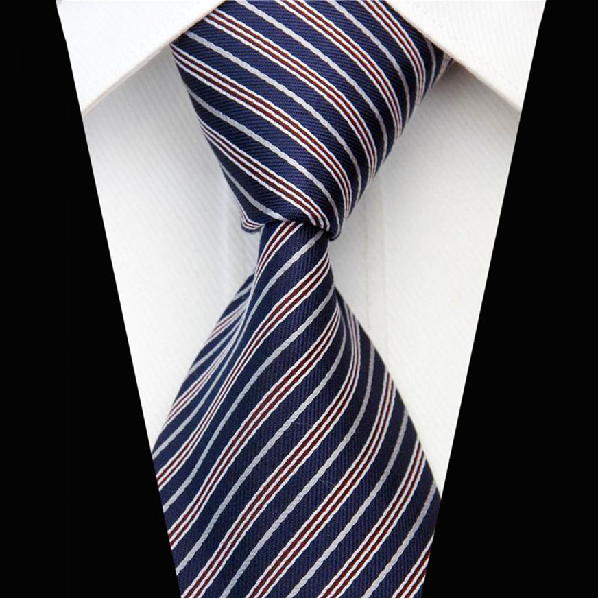 Skinny Business Neckties For Men Fashion Striped Gravatas Slim Wedding Neck Ties Males Party Suite Accessories Silk Tie 3/7.5cm