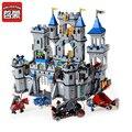 Ilumina 1023 León Castillo Medieval Caballero Carro Modelo de Bloques 1393 unids Edificio Kits de Bloques de Construcción Ladrillos Juguetes Brinquedos