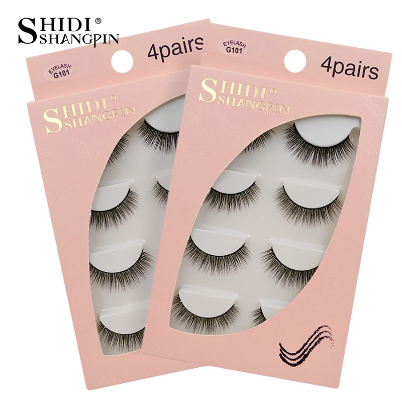 SHIDISHANGPIN Mink Eyelashes Natural Fake Eyelashes 3D Mink Lashes False Eyelashes Cilios 3d False Lashes Fake Eyelash Maquiagem