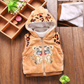 Children Clothing Winter Animal Fashion Sleeveless Woollen Thick Boy Vest Hooded Kids Baby Warm Waistcoat Clothing Hooded
