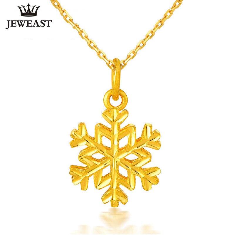 24 К из чистого золота Подвеска настоящий АС 999 Solid Gold очарование хороший модный снежинка высококлассные Классические Вечерние Fine Jewelry Лидер