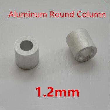 Ambitieus 500 Stks/partij 1.2mm Aluminium Ronde Draad Touw Adereindhulzen Ronde Gat Aluminium Spacer Aluminium Clip Kleuren Zijn Opvallend