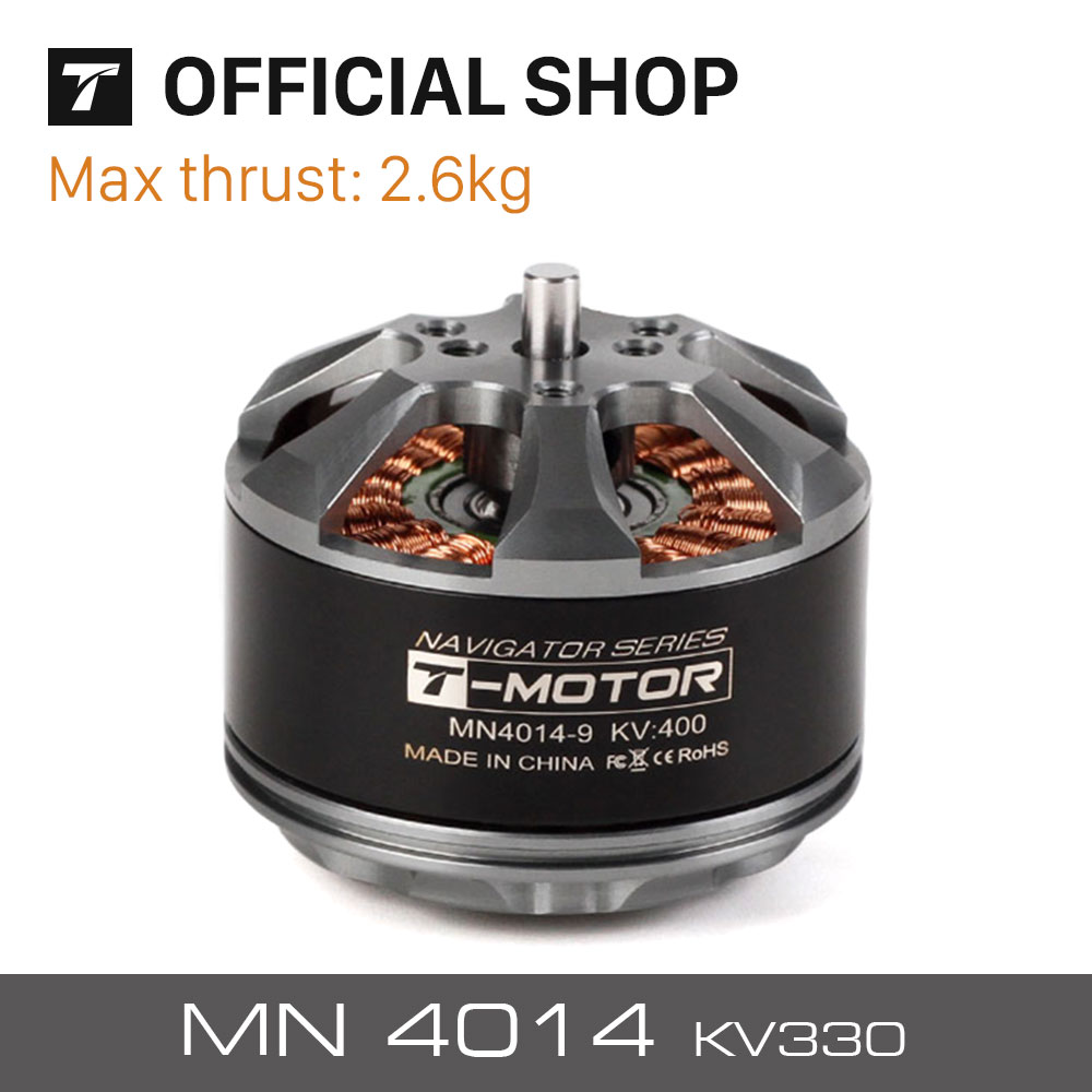 T-motor High Performance MN4014 KV330 Outrunner Brushless Motor For UAV RC Drones Rotors Copters Heavy Multi-rotor sunnysky m80 130kv 150kv desk outrunner brushless motor for fpv rc multi rotors