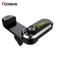 FDOMAIN new multi function Bluetooth hands free car kit auto FM transmitter modulator phone holder charger voiture