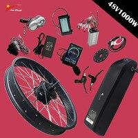 Бесплатная доставка 48 в 1000 Вт Электрический велосипед комплект для 20'26' * 4,0 колеса велосипеда заднее колесо со ступицей двигатель мощный вел