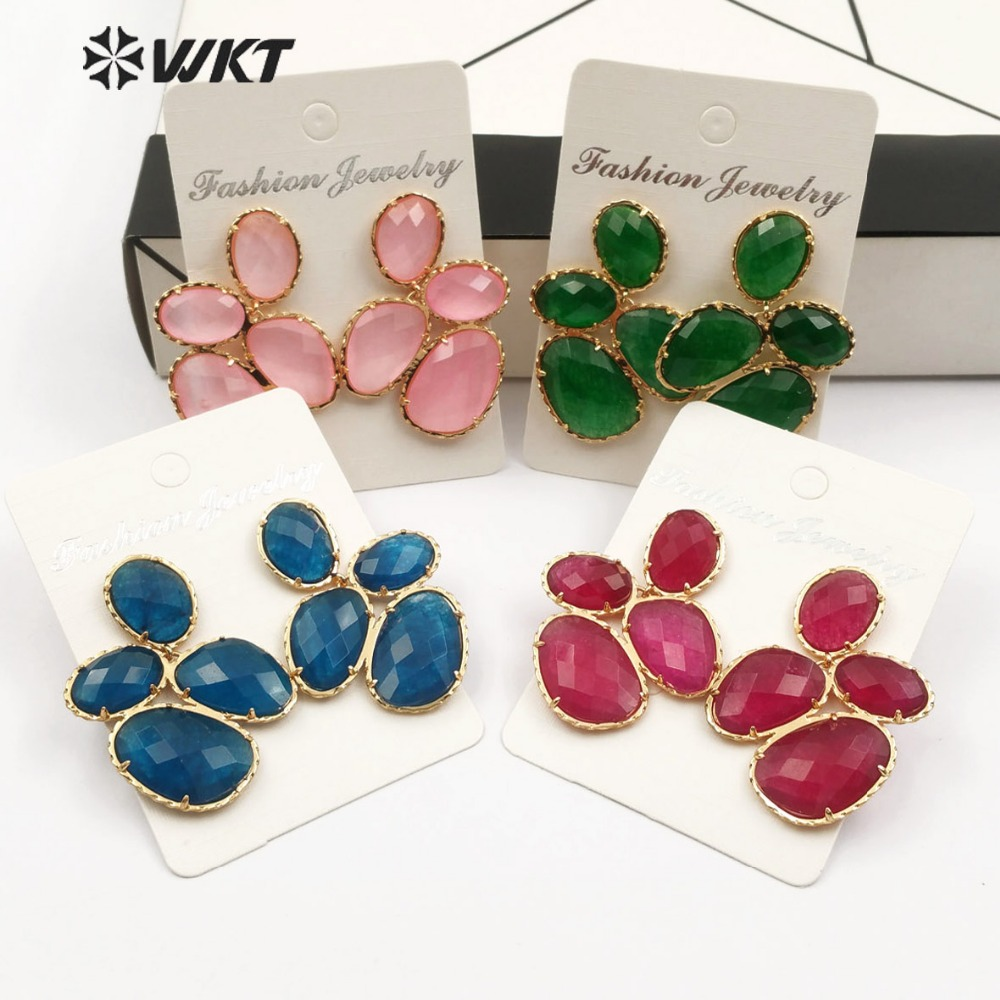 WT E485 WKT The latest fashion girls in 2019 vintage shiny zircon earrings are hot sellers