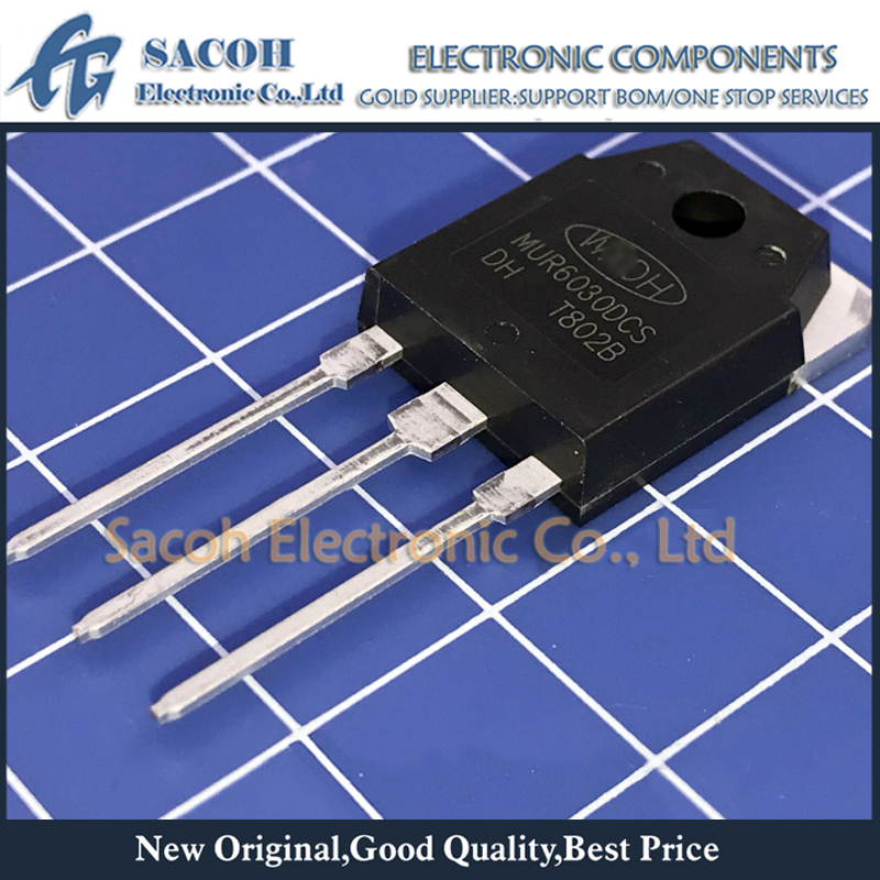 Free Shipping 10Pcs  MUR6030DCS MUR6030DCT MUR6030PT MUR6030WT TO-3P 60A 300V Ultra Fast Recovery Diode