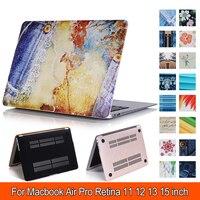 Fiore di lusso di Caso per MacBook Air 11 13 Lusso Colori Stampati Modello Air 11 Copertura Del Computer Portatile per Macbook Pro Retina 12 13 15 Caso