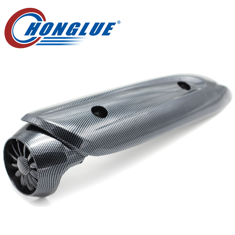 For YAMAHA JOG ZR EVOLUTION EVO 1/2 PRO BJ Motorcycle Scooter imitation Carbon Exhaust heat insulation cover Muffler cover
