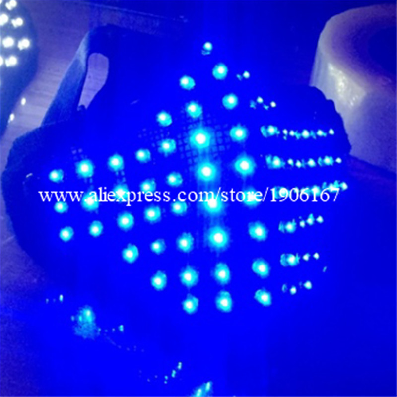 Hot Sale Led Light Up Blue Color Luminous Flashing Halloween Mask Headwear For DJ Club Party Christmas Decoration Free Shipping
