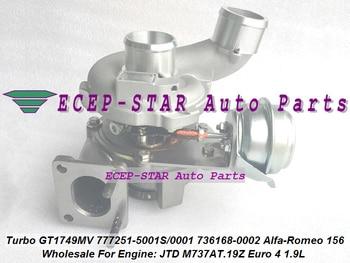Turbo GT1749MV 777251-5001S 777251 736168 736168-0002 55188690 53039700102 For Lancia Lybra 05 192A8000 M737AT19Z 1.9L JTD 120HP