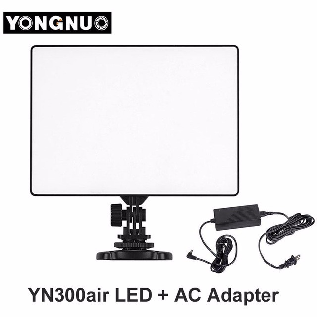 Yongnuo YN-300 YN300 Air LED Video Light Panel 3200K-5500K NP-F550 Battery Charger for Canon Nikon DSLR Camera Fill Light цены