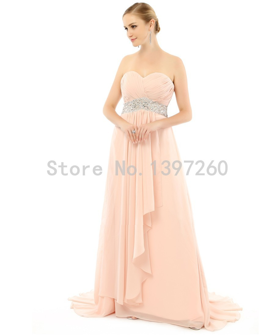 Long Gowns For Wedding Guests: Strapless Champagne Gold Corcal Bridesmaid Dresses Long