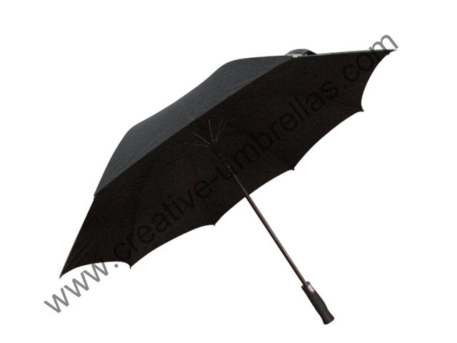 long-handle straight unbreakable self-defense golf umbrellas 14mm carbon fiberglass shaft and double fiber ribs,windproof
