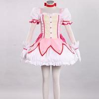 Magical Girl Kaname Madoka Costume Puella Magi Madoka Magica Kaname Madoka Sexy Dress Cosplay