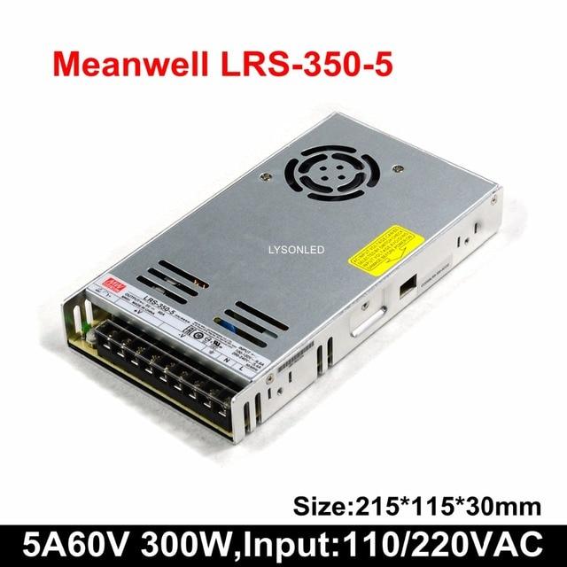 2 Cái/lốc MeanWell Slim LRS 350 5 Màn Hình LED Hiển Thị 5V 60A Chuyển Đổi Nguồn Điện, 300W Cung Cấp (Đầu Vào AC 100 ~ 240V)