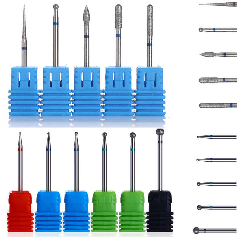11 Types Nail Drill Bit Burr Milling Gel Nails Cutter File for Electric Drill Accessories Manicure Nail Art Tool Kit
