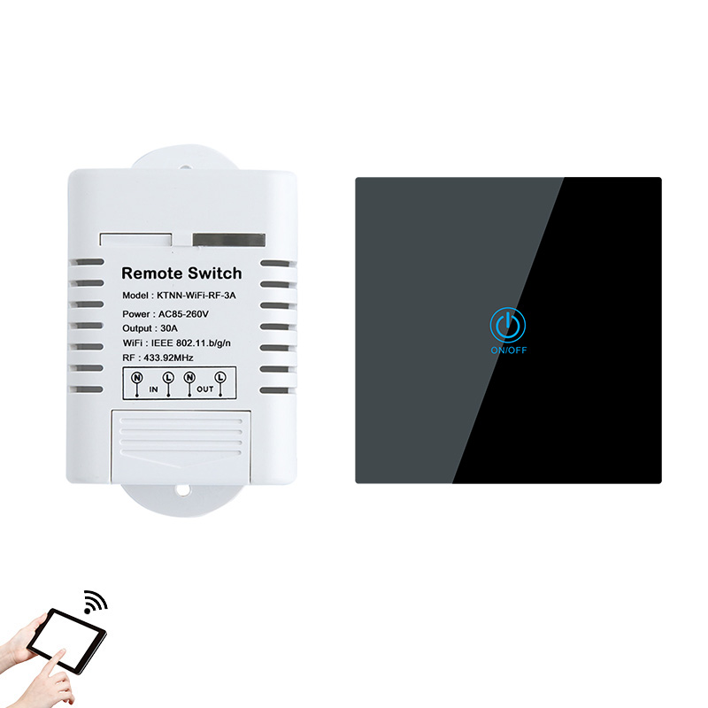 110V-220V 30A High Power Wifi Water Heater Switch Smart Home Gadgets Wireless Relay Receiver APP Control with Touch Remote