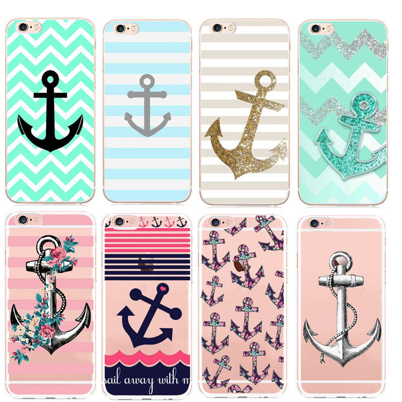 sailing anchor wallpaper Hard PC Case For iPhone X XS 8 7 6 6S Plus 5S