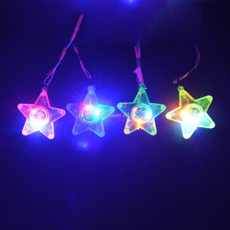 ᐃ2018 LED Light up intermitente estrella collar Colgantes niños ...