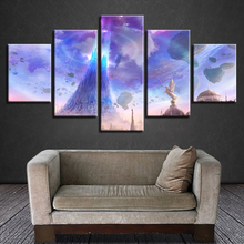 HD Printing Posters Wall Art 5 Pieces Game AION Canvas Paintings Decoration Home Living Room Modular Pictures Framework Artworks