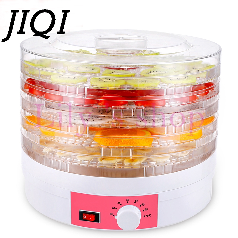 JIQI Household Food Dehydrator Fruit Vegetable Herb Meat Fish flower Drying Machine adjustable temperature food dryer 5 layers shanghai kuaiqin kq 5 multifunctional shoes dryer w deodorization sterilization drying warmth