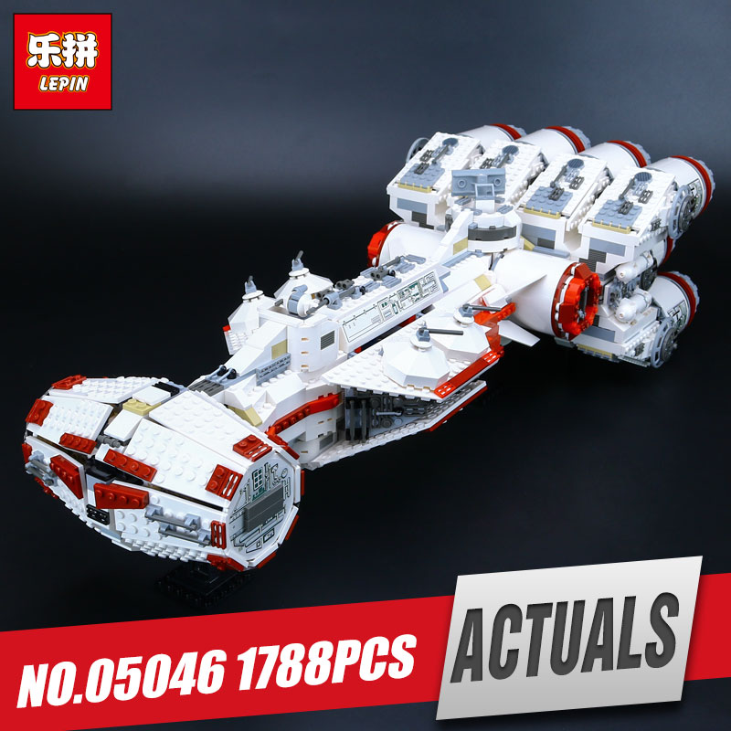 Lepin 05046 1748Pcs Star Series The Tantive model IV Funny Blockade Runner Set Educational Building Blocks Bricks War Toys 10019 sme series iv