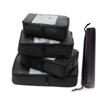 QIUYIN Unisex Clothing Sorting Storage Bags Nylon Packing Cube Travel Zipper Waterproof  Set Big Capacity Of