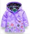 2014 de La Muchacha de Moda chaquetas Chicas ropa de Abrigo y Abrigos blazer Trench Primavera Otoño Chicas Sudaderas Chaquetas, bebé raincoatChildren de C