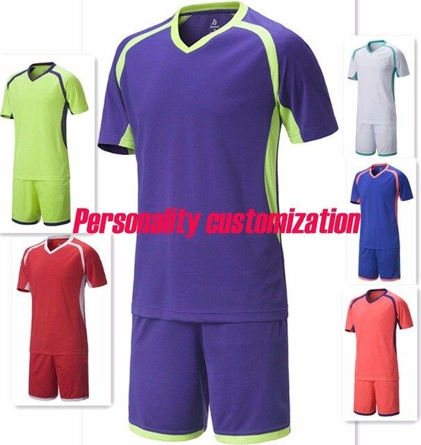 b4ab67a059c Men blank soccer sets adult plain football jerseys men trainning kits  sports suits short sleeve running uniforms shirts shorts