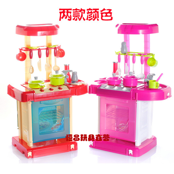 Kitchen toy simulation kitchen set full plastic kitchen for Best kitchen set