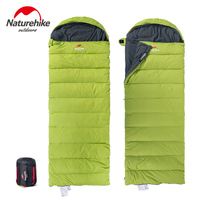 Brand Envelope Down Filled Sleeping Bag Winter Outdoor Camping Down Feather With Thick Warm Duvet Adult