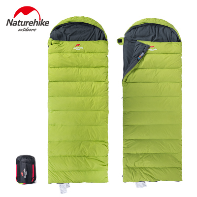 Naturehike Factory Store outdoor Camping winter Envelope down-filled feather with thick warm duvet adult sleeping bags