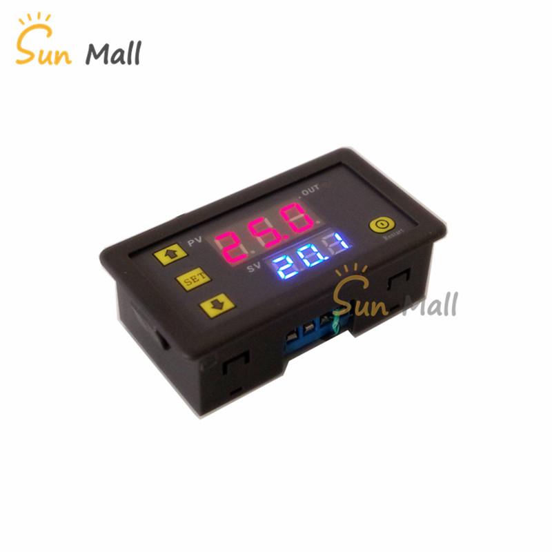 все цены на Digital Time Relay Module Cycle Time Delay Double Display Timer Controy Multifunction 5V/12V/24V