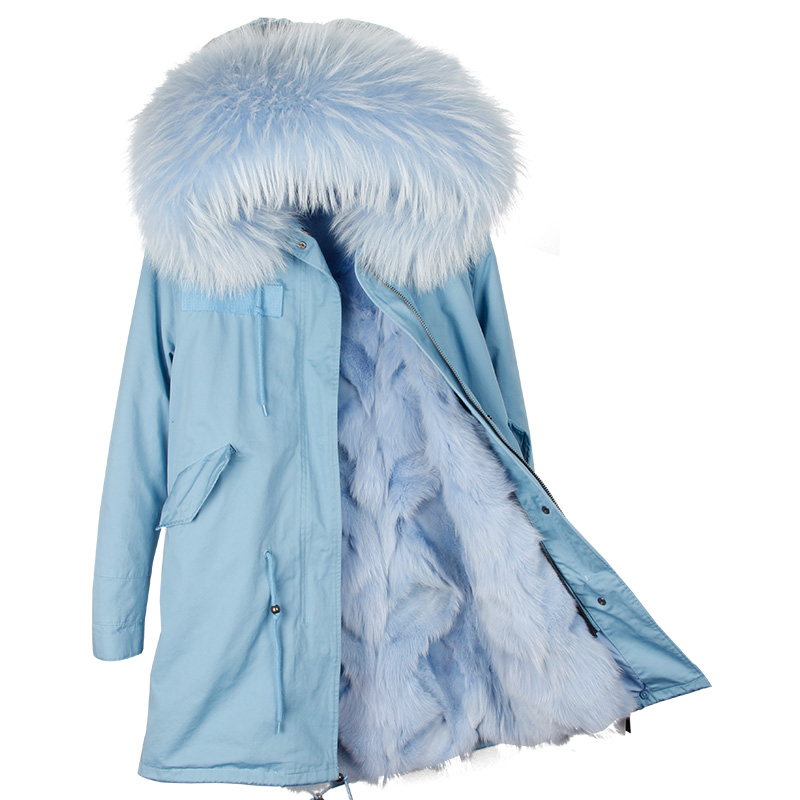 MaoMaoKong Long Thick Women's Winter Jacket Natural Raccoon Fur Collar Hood Manteau Femme Solid Female Warm Parka Abrigo Mujer bashir khan sources of personal visions of educational leaders