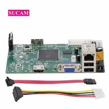 8 ช่อง 4MP MINI NVR เครื่องบันทึกวิดีโอเครือข่ายหลักสำหรับ 2MP 4MP 5MP กล้อง IP ระบบ ONVIF IP กล้อง