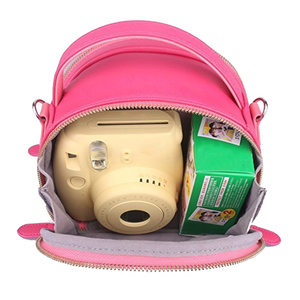 Image 5 - Besegad, bolsa de transporte para almacenamiento de cuero de PU, bolsa para cámara de impresión instantánea Polaroid Fujifilm Instax Mini 9 8 7S 25 50S 70 90