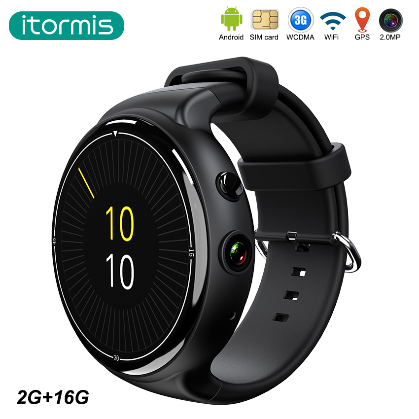 itormis smart watch smartwatch Android Bluetooth 3G SIM card Quad-core MTK6580 RAM 2G Rom 16G Camera WiFi GPS Heart rate i4 air