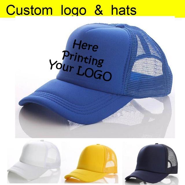 Factory Wholesale Summer Trucker Hats Adult Custom Baseball Cap Printing  Your LOGO Vinyl Heat Transfer Letter Men Snapback Caps 47818a01536