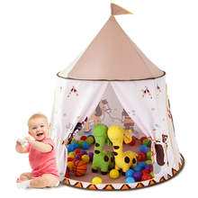 YARD 116*123 cm Kids Play Tent Outdoor Indoor Foldable Princess Ball Castle Children Teepee Baby House Toy Tents Birthday Gift цена 2017