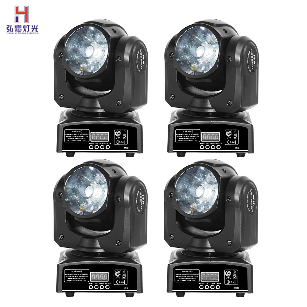 Moving 60w led moving head lights RGBW 4in1 beam dmx512 control mini dj disco 4 pcs