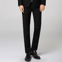 Pure Color Men's Suit Trousers Black Blue Gray Wine Red Size 28 29 30 31 32 33 34 36 Man Business Casual Pants Slim Elegant