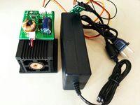 Высокая Мощность лазерной 15 Вт 450nm синий лазерный модуль Вырезка w/TTL и 12 В адаптер