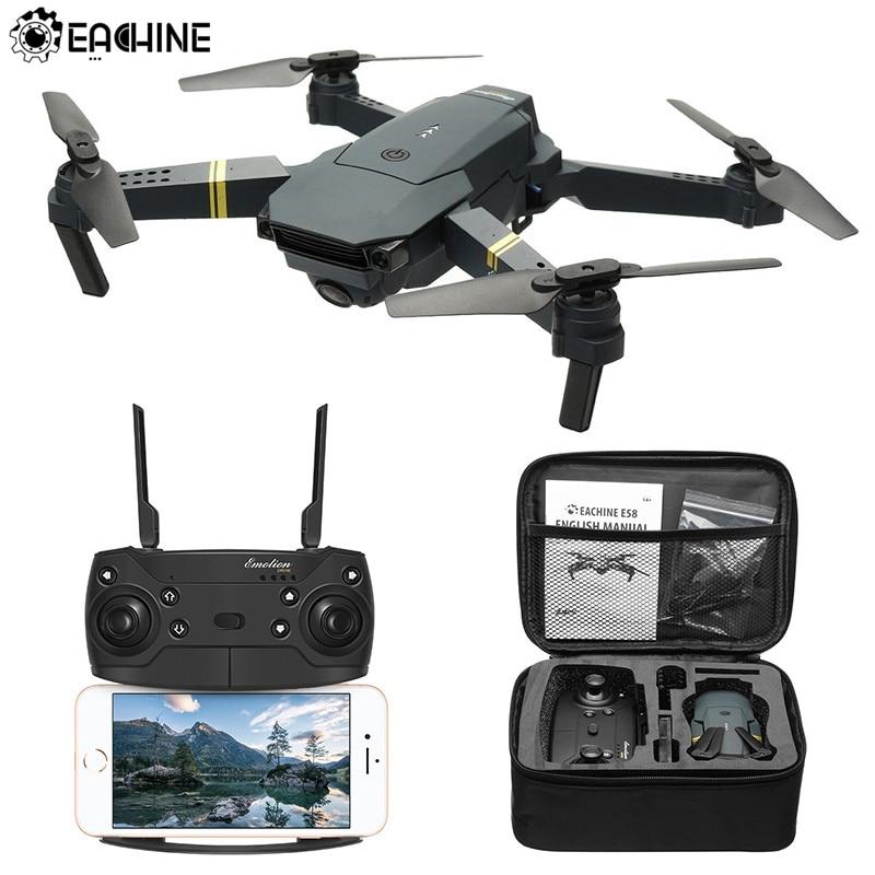 Eachine E58 WI-FI FPV с Широкий формат HD Камера высокое режим удержания Складная рукоятка Радиоуправляемый Дрон Quadcopter RTF
