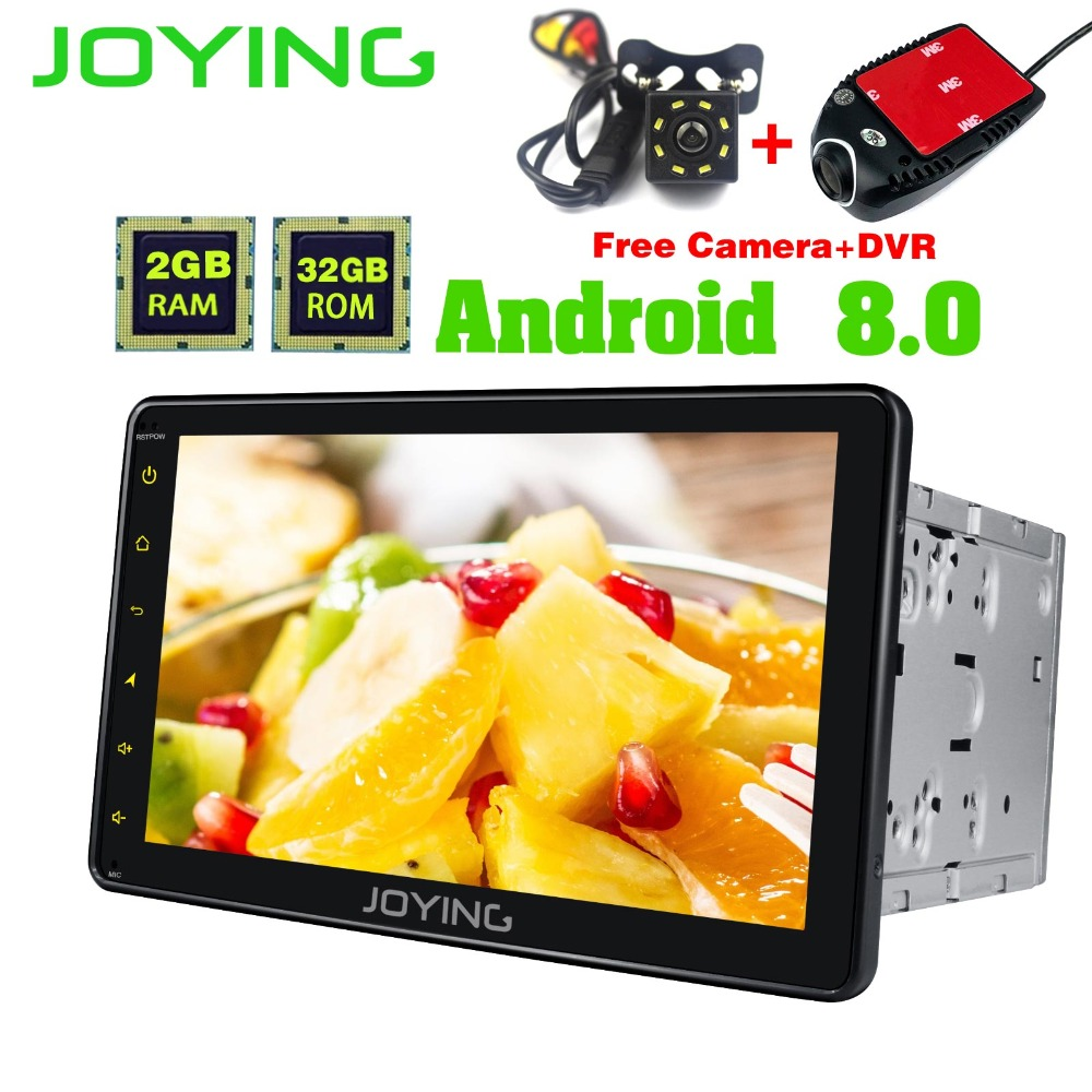 JOYING 8 Double 2 Din Universal Head Unit Android Car Radio Stereo Audio GPS Navigation Tape Recorder Player Support Cam Dash