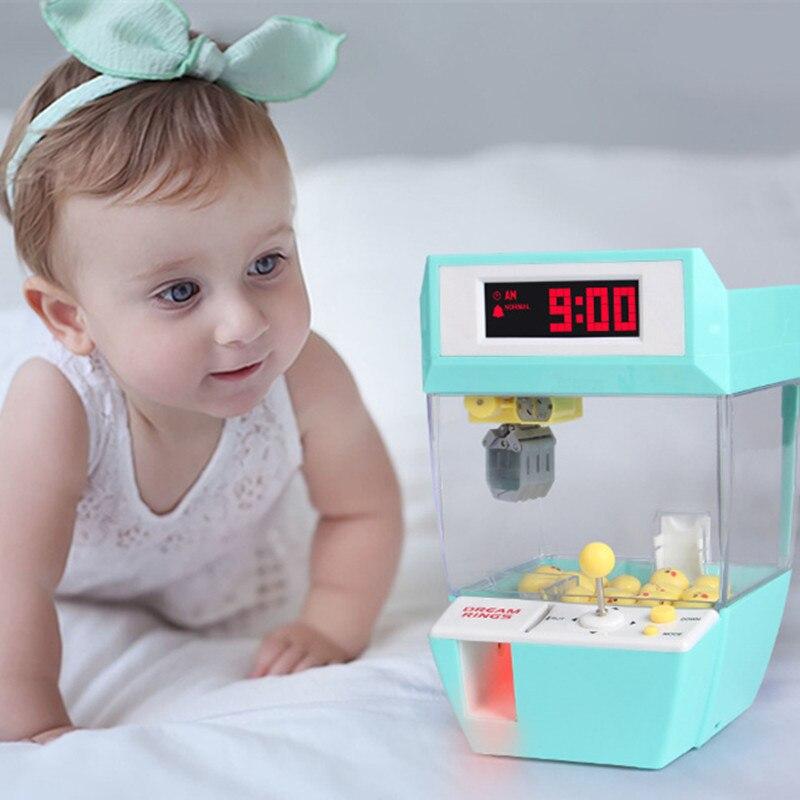 Catcher Будильник Электрический торговый автомат кукольный захват игровой автомат мини конфетный захват машина конфетный автомат для детских
