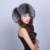 Sombrero de Las Mujeres Femeninas de Invierno Bombardero Sombrero de Zorro de Plata Natural Sólido Real Sombrero de Piel caliente Gruesa de La Moda De Invierno Chica Mujer Caps sombreros