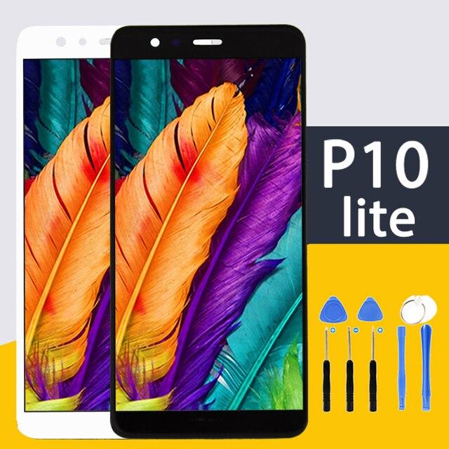 100% En AAA Yok Ölü Piksel HUAWEI P10 Lite 5.2 inç orijinal lcd ecran Ekran Çerçeve ile Ekran Yedek Lens pantalla